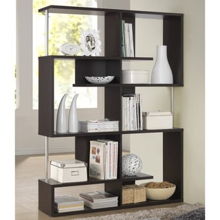 Kaleb Dark Brown/ Espresso Modern Storage Shelf