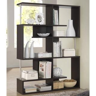 Kaleb Dark Brown/ Espresso Modern Storage Shelf