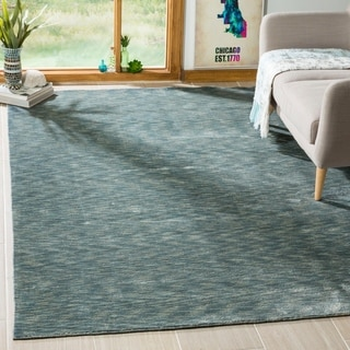 Hand Tufted Utopia Tile Blue Wool Rug 8 X 11 Free