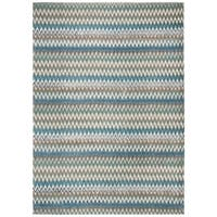 Safavieh Hand-loomed Cedar Brook Teal/ Blue Cotton Rug - 7'3 x 9'3