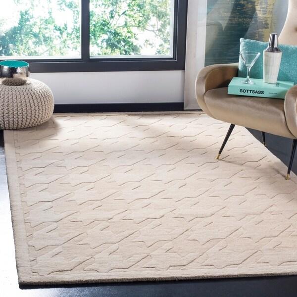 "Safavieh Handmade Impressions Beige Wool Rug - 7'6"" x 9'6"""