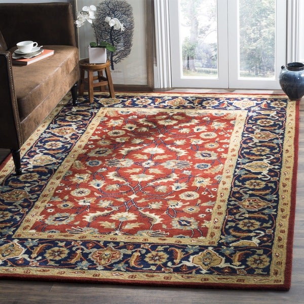 Safavieh Handmade Royalty Rust Navy Wool Rug 6 X 9