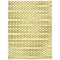 Safavieh Hand-loomed Cedar Brook Lime/ Ivory Cotton Rug - 7'3 x 9'3