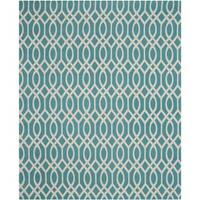 Safavieh Hand-loomed Cedar Brook Light Teal/ Ivory Cotton Rug - 7'3 x 9'3