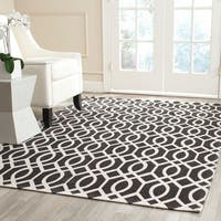 "Safavieh Hand-loomed Cedar Brook Brown/ Ivory Cotton Rug - 7'3"" x 9'3"""