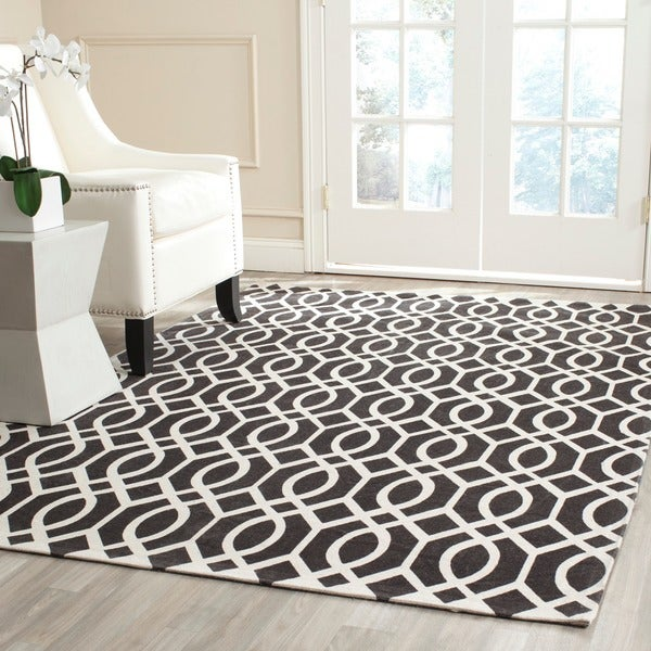 Safavieh Hand-loomed Cedar Brook Brown/ Ivory Cotton Rug - 7'3 x 9'3