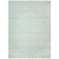 Safavieh Hand-loomed Cedar Brook Ivory/ Light Teal Cotton Rug - 7'3 x 9'3