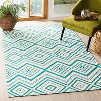 "Safavieh Hand-loomed Cedar Brook Ivory/ Citron Cotton Rug - 7'3"" x 9'3"""