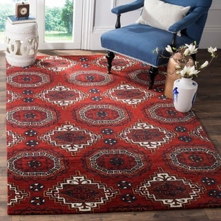 Safavieh Handmade Wyndham Red Wool Rug (5' x 8')