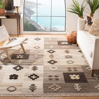Safavieh Hand-woven Kenya Natural Wool Rug - 6' x 9'