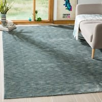 Safavieh Handmade Mirage Modern Blue/ Grey Viscose Rug - 6' x 9'