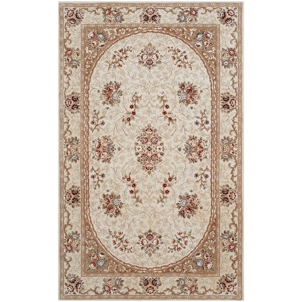 Handmade Indian Persian Rugs: Shop Safavieh Handmade Persian Court Ivory/ Tan Wool/ Silk