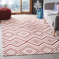 Safavieh Hand-loomed Cedar Brook Ivory/ Coral Cotton Rug - 5' x 8'