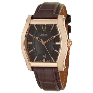 Bulova Accutron Men's 'Stratford' Rose Gold-Tone Stainless Steel Watch