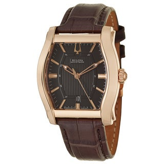 Bulova Accutron Men's 'Stratford' Rose Gold-Tone Stainless Steel Watch