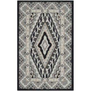 Safavieh Indoor/ Outdoor Four Seasons Ivory/ Grey Rug (2'6 x 4')
