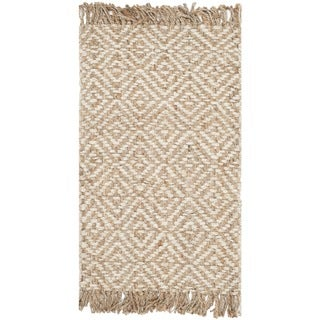 Safavieh Casual Natural Fiber Hand-Woven Natural / Ivory Jute Rug (2'6 x 4')