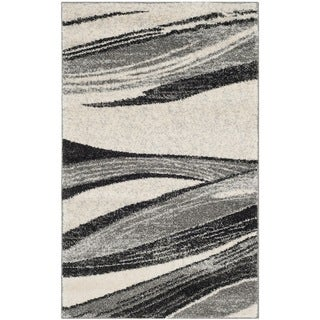 Safavieh Retro Modern Chic Abstract Light Grey/ Ivory Rug (2'6 x 4')