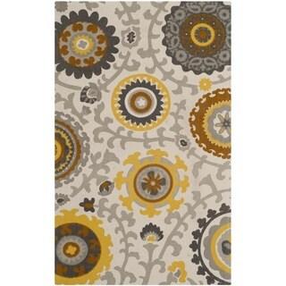 Safavieh Hand-loomed Cedar Brook Citron/ Ivory Cotton Rug (2'3 x 3'9)