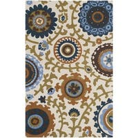 "Safavieh Hand-loomed Cedar Brook Ivory/ Blue Cotton Rug - 2'3"" x 3'9"""
