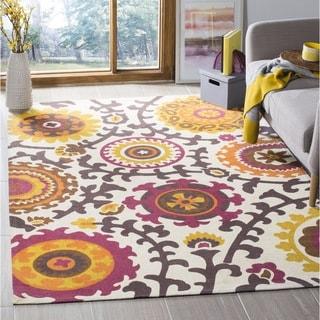 Safavieh Hand-loomed Cedar Brook Ivory/ Pink Cotton Rug (2'3 x 3'9)