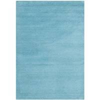 Safavieh Handmade Himalaya Solid Turquoise Blue Wool Area Rug - 2' x 3'