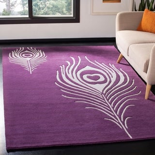 Safavieh Handmade Soho Purple/ Ivory New Zealand Wool/ Viscose Rug - 2' x 3'
