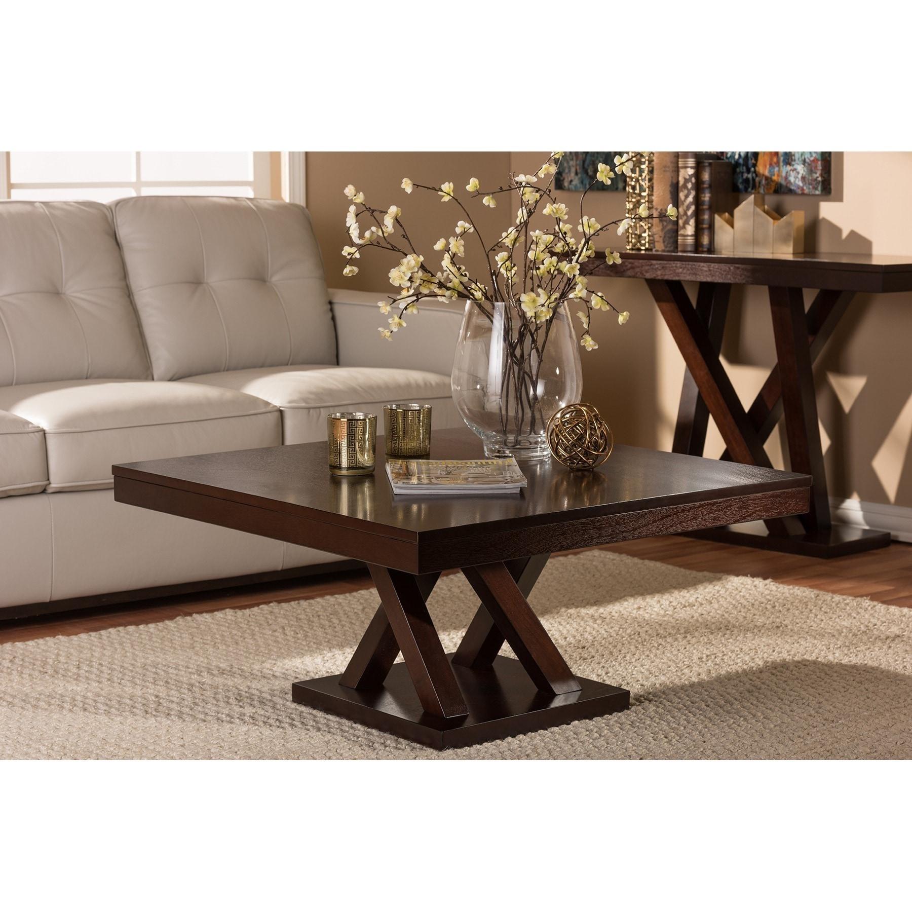 - Shop Modern Dark Brown Coffee Table By Baxton Studio - Overstock