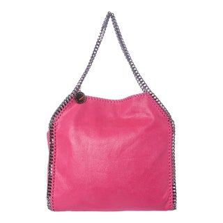 Stella McCartney 'Falabella Shaggy Deer' Small Hot Pink Tote