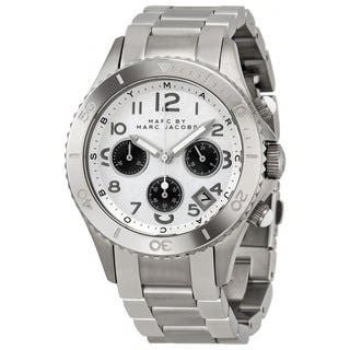 Marc Jacobs Women's 'Rock Chrono' MBM3155 Silver-Tone Stainless Steel Watch (Option: Silver) https://ak1.ostkcdn.com/images/products/8721439/Marc-Jacobs-Womens-Rock-Chrono-MBM3155-Silver-Tone-Stainless-Steel-Watch-P15969520.jpg?impolicy=medium