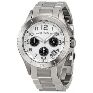 Marc Jacobs Women's 'Rock Chrono' MBM3155 Silver-Tone Stainless Steel Watch|https://ak1.ostkcdn.com/images/products/8721439/Marc-Jacobs-Womens-Rock-Chrono-MBM3155-Silver-Tone-Stainless-Steel-Watch-P15969520.jpg?impolicy=medium