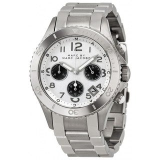 Marc Jacobs Women's 'Rock Chrono' MBM3155 Silver-Tone Stainless Steel Watch