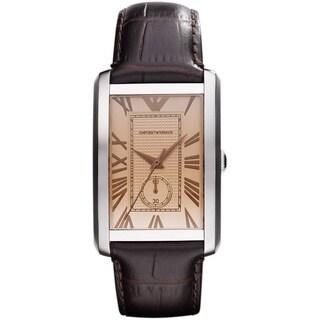 Armani Men's 'AR1605' Brown Leather Strap Watch