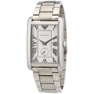 Emporio Armani Men's 'Classic Silver ' Stainless Steel Watch