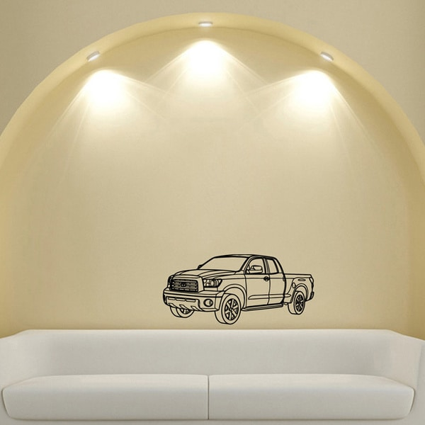 Toyota Tundra Pickup Truck Vinyl Wall Decal Art
