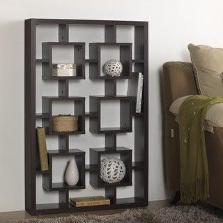 Baxton Studio Hadley Dark Brown/ Espresso Modern Storage Shelf