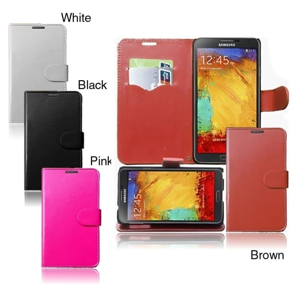 INSTEN Wallet Phone Case Cover with Card Slot for Samsung Galaxy Note 3/ N9000