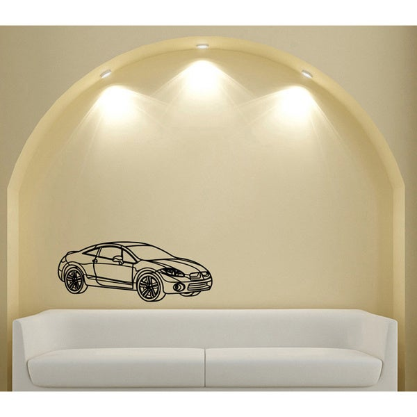 Mitsubishi Eclipse Smooth Speed Vinyl Wall Decal