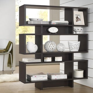 Parker Dark Brown/ Espresso Modern Storage Shelf