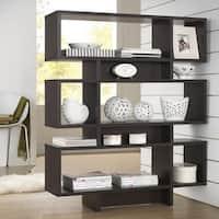 Clay Alder Home Hanalei Modern Dark Brown Wood Frame Shelf