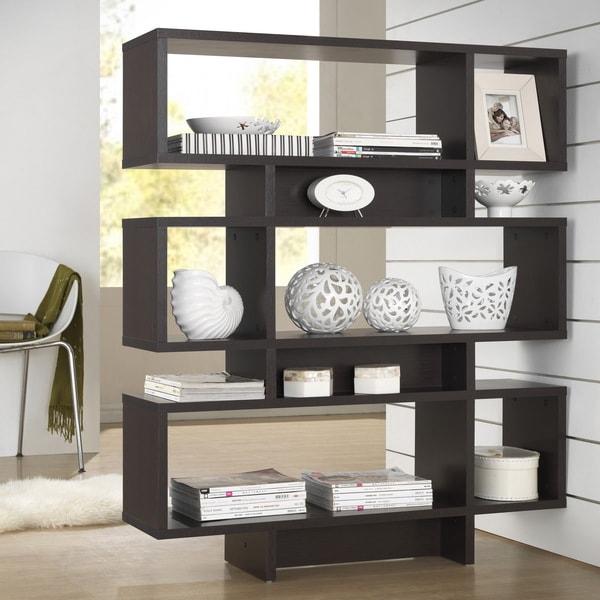 Modern Dark Brown Shelf by Baxton Studio