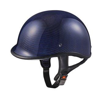 GLX Carbon Fiber Blue Polo Half Helmet (As Is Item)