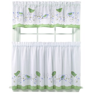 Morning Song Curtain Tiers and Valance Set