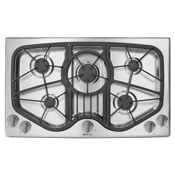 Shop Jenn-Air 36-inch 5-burner Stainless Steel Gas Cooktop