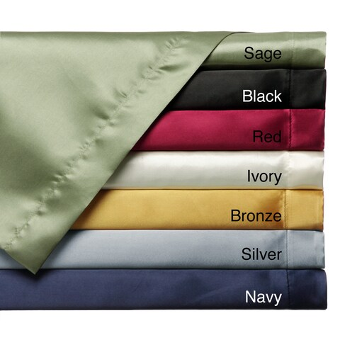 Convert-A-Fit Satin Sheet Set - Fitted and Flat Sheet are Attached