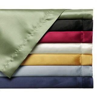 Convert-A-Fit Satin Sheet Set - Fitted and Flat Sheet are Attached (More options available)