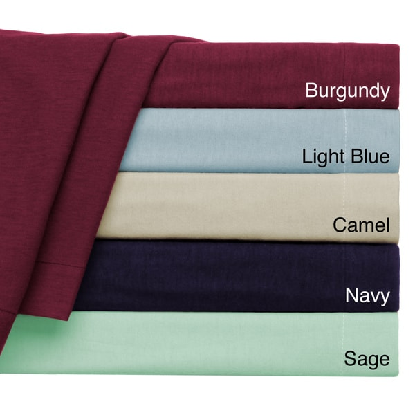 Convert-A-Fit Flannel 4-piece Sheet Set - Fitted and Flat Sheets are Connected