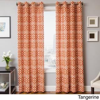 Kaili Faux Linen Grommet Top Curtain Panel