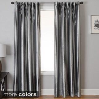 Elton Stripe Jacquard Back Tab Curtain Panel