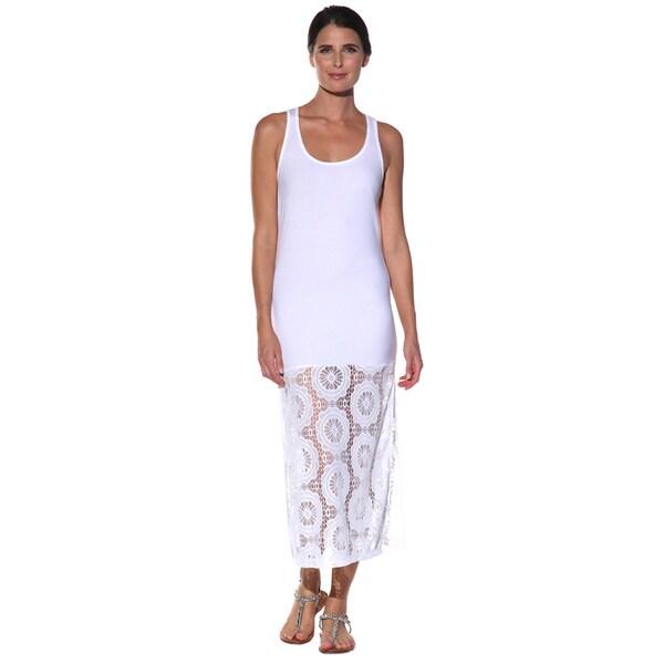 Shop Anatomie Womens Fatime White Long Tank Dress Free Shipping